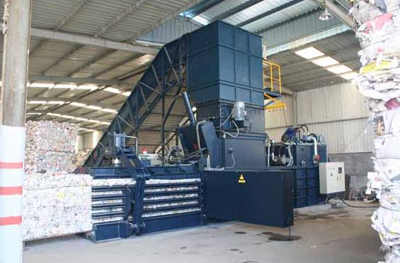 Newspaper Horizontal Baler machine