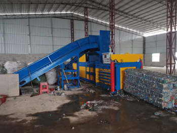 Scrap PET Bottles Horizontal Baling Machine