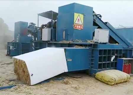 bagging baler machine for compressing leaf