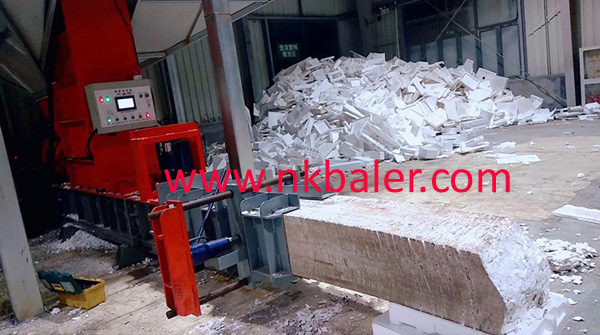 Plastic Foam door Baler machine
