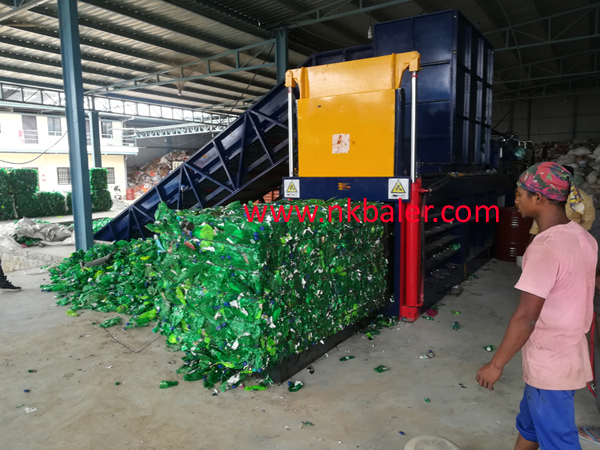 Plastic Bottle Baling Press Horizontal Baler